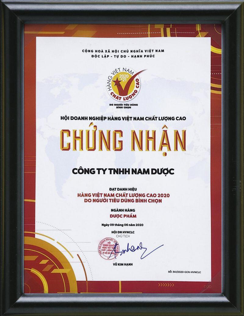 chứng nhận HVNCLC